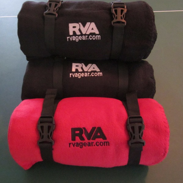 RVA Fleece Blanket with Carrying Strap